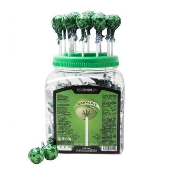 Euphoria Cannabis Lollipops 12g x 100pcs - Lovely Liquid