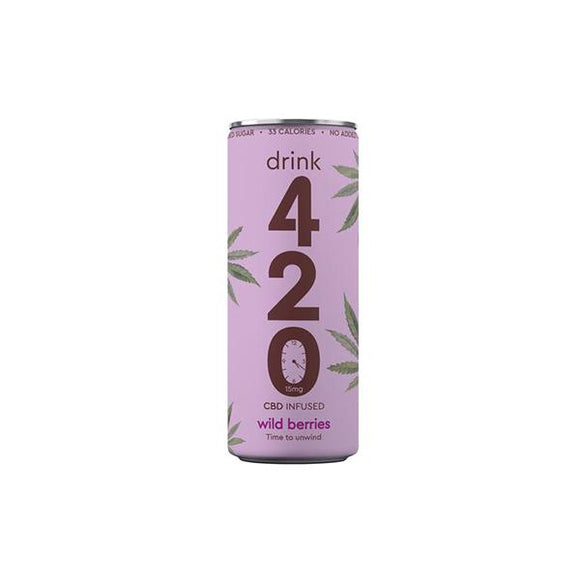 Drink 420 CBD 15mg Infused Sparkling Drink - Wildberry - Lovely Liquid