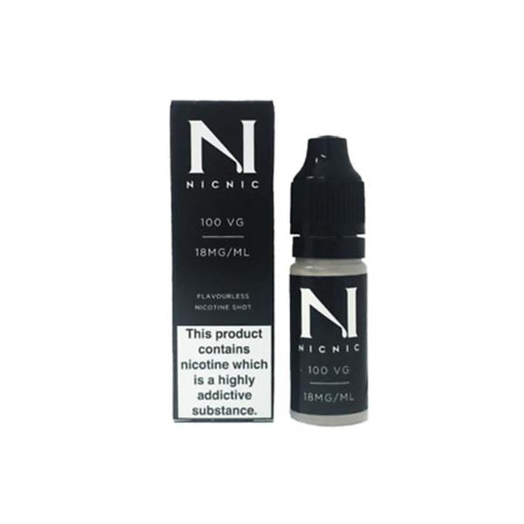 NIC NIC 18mg Nicotine Shot (100VG) 10ml