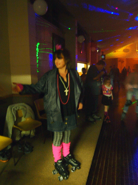 80's themed roller disco