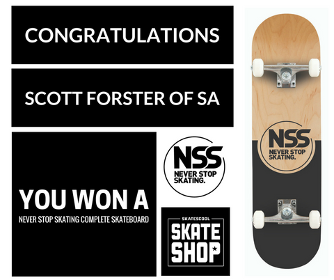Congratulations to Scott Forster