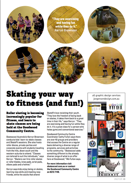 Unley Life Press Article on Skatescool