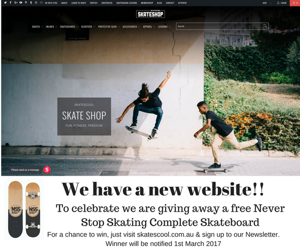 Win a free Never Stop Skating Board