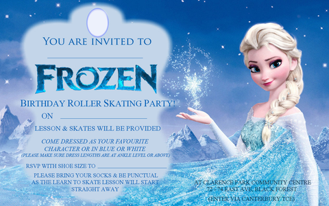 frozen party invite