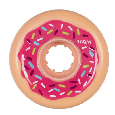 Radar Donut 62mm/78a Pink Sprinkle Wheels 4pk - Skatescool Australia