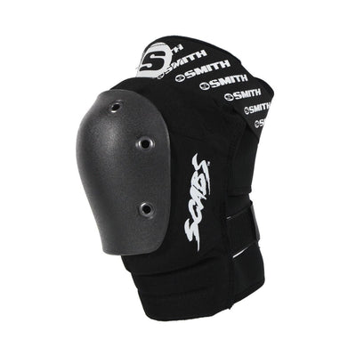 SMITH SCABS ELITE KNEE PAD BLACK W BLACK CAPS - Skatescool Australia