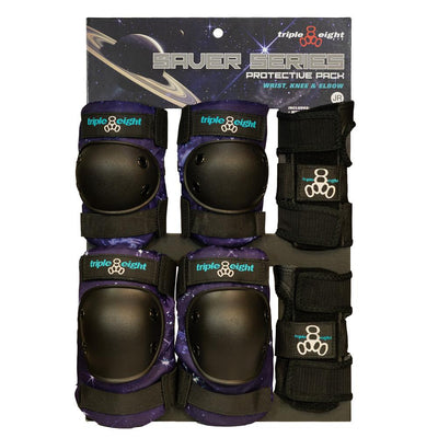 TRIPLE 8 TRIPACK JUNIOR GALAXY PURPLE - Skatescool Australia