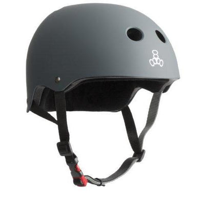 TRIPLE 8 THE CERTIFIED HELMET SS CARBON RUBBER - Skatescool Australia