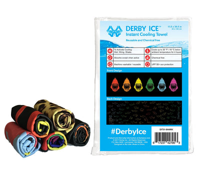DERBY ICE Towel - Zebra - Skatescool Australia
