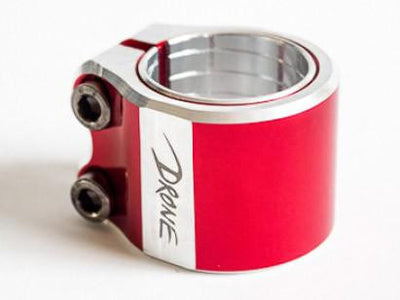 DRONE CONTRAST DOUBLE CLAMP - Chrome - Skatescool Australia