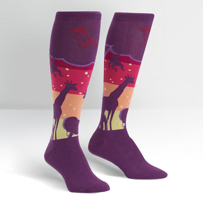 SOCK IT TO ME SUNSET SAFARI JUNIOR (AGE 7-10) KNEE HIGH SOCKS - Skatescool Australia