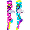 MADMIA FLYING FLAMINGOS KNEE HIGH SOCKS (AGES 6-ADULT) - Skatescool Australia