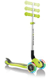 Globber Primo Foldable LIGHTS - Lime Green - Skatescool Australia