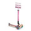 Globber PRIMO FOLDABLE WOOD w /Lights - Pink - Skatescool Australia