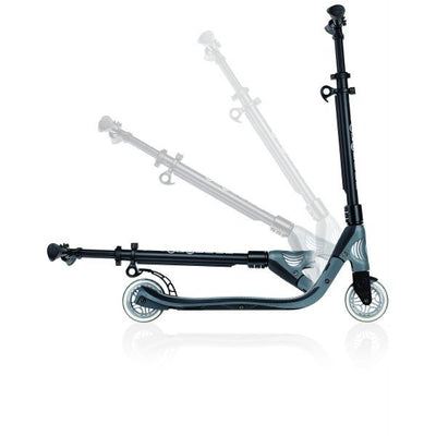 GLOBBER ONE NL 125 Scooter - Black/Charcoal Grey - Skatescool Australia