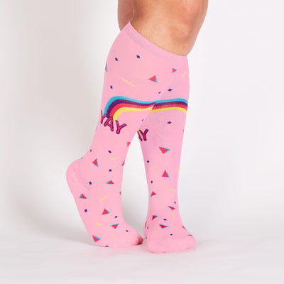 Sock It To Me STRETCH REIGNING CONFETTI KNEE HIGH SOCKS - Skatescool Australia