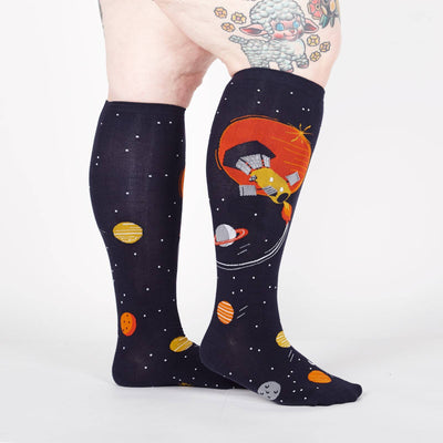 Sock It To Me FLY ME TO THE SUN STRETCH KNEE HIGH SOCKS - Skatescool Australia