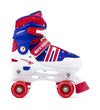 SFR SPECTRA KIDS ADJUSTABLE QUAD SKATES - BLUE RED - Skatescool Australia