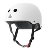 TRIPLE 8 THE CERTIFIED HELMET SS WHITE RUBBER - Skatescool Australia