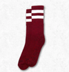 AMERICAN SOCKS RED NOISE - BURGUNDY W WHITE MID (Sold out) - Skatescool Australia