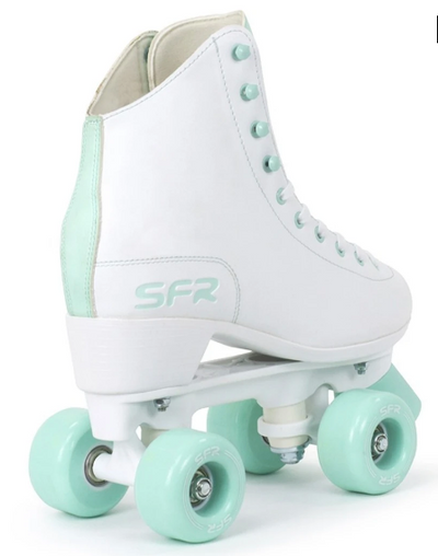 SFR FIGURE SKATES WHITE AND GREEN - Skatescool Australia