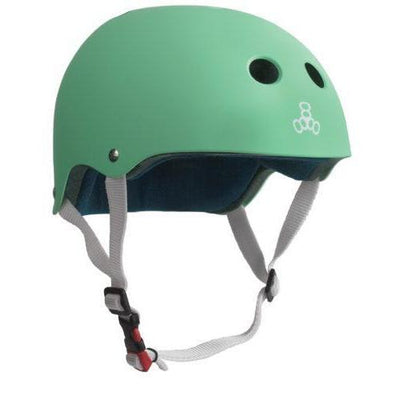 TRIPLE THE CERTIFIED HELMET SS MINT RUBBER - Skatescool Australia