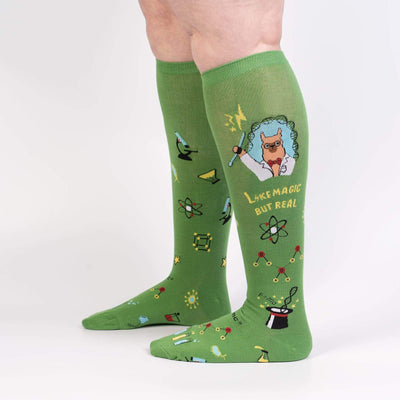 Sock It To Me STRETCH TRUST ME, ILLAMA SCIENTIST KNEE HIGH SOCKS - Skatescool Australia