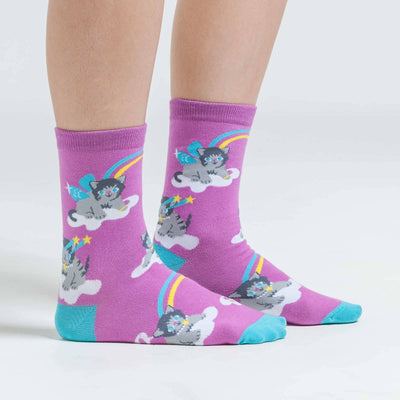 Sock It To Me PURRFECT WORLD WOMENS CREW SOCKS - Skatescool Australia