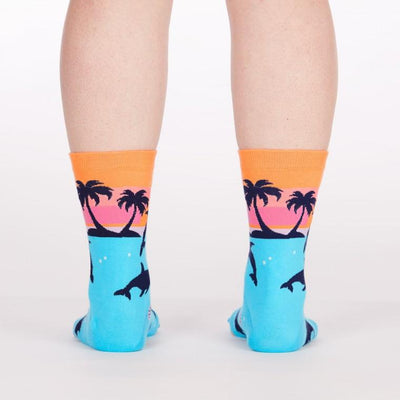 Sock It To Me DANCING DOLPHINS WOMENS CREW SOCKS - Skatescool Australia
