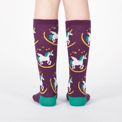 SOCK IT TO ME WISH UPON A PEGASUS JUNIOR (AGED 7-10) KNEE HIGH SOCKS - Skatescool Australia