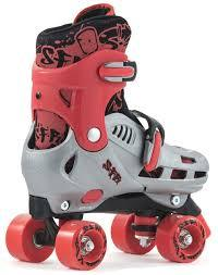 SFR HURRICANE KIDS ADJUSTABLE QUAD SKATES RED - Skatescool Australia