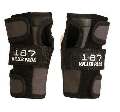 187 Wrist Guards - Black/Grey - Skatescool Australia