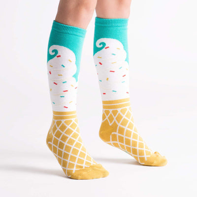 Sock It To Me ICE CREAM DREAM YOUTH (AGED 3-6) KNEE HIGH SOCKS - Skatescool Australia