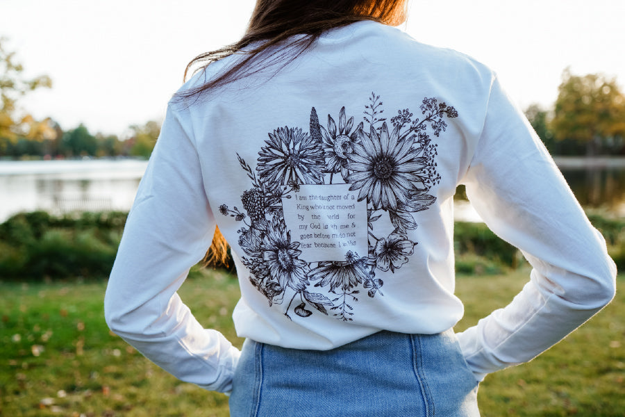 GOD GRL White Long Sleeve