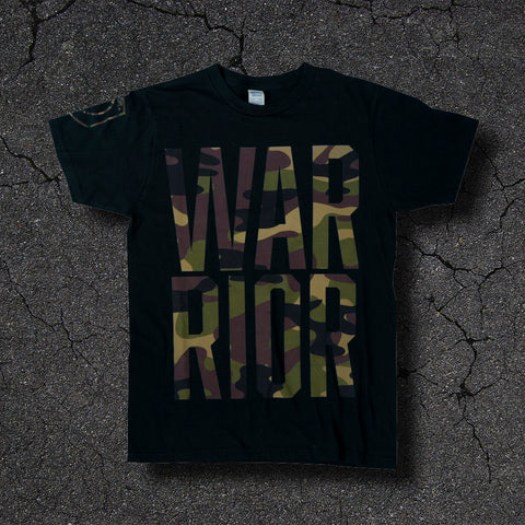 WARRIOR Camo Black Tee