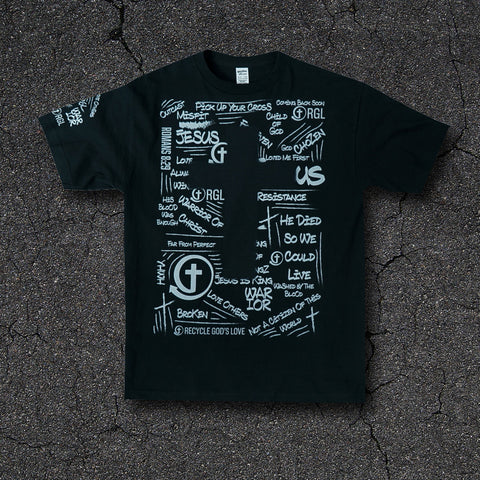 Graffiti Black Tee