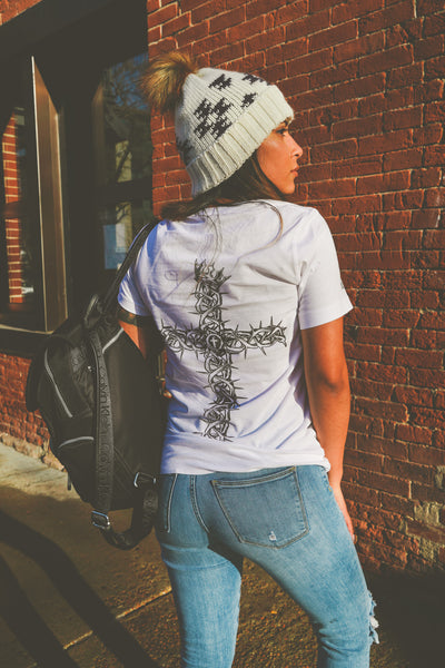 Thorn Cross White Tee