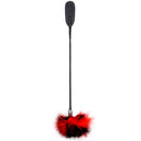 Dual use Flirt tickle feather PU leather spanking paddle slap clap flap whip on butt SM sex adult game toy for women man couple