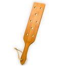 Perforated natural wood bamboo spanking paddle clap slap flap pat beat whip lash flog sex toy for adult SM game men women couple