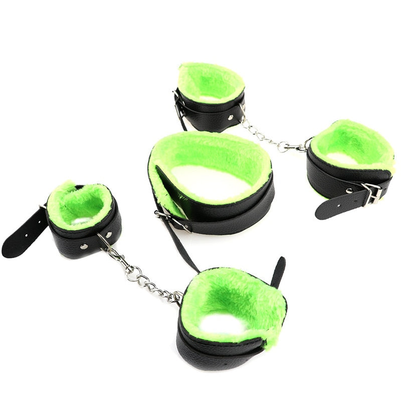 Sex Erotic Toys 10pcs/set Adult Games Sex Bondage Restraint Set Handcuffs Nipple Clamp Whip Collar Sex Toys for Couples