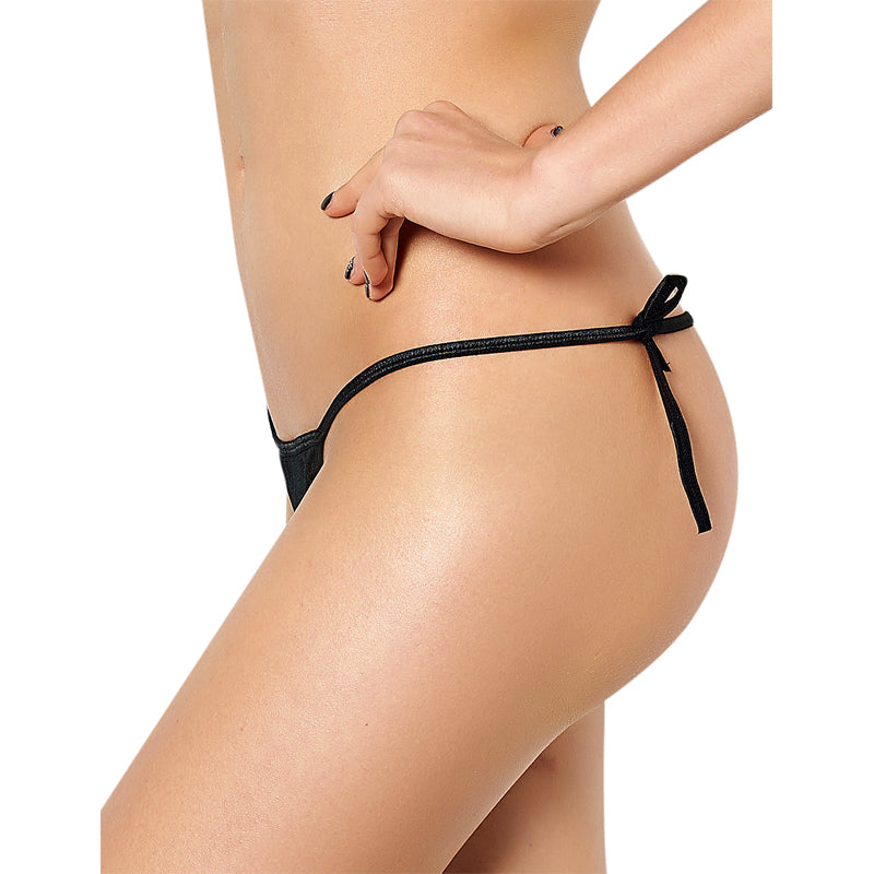 PS5108 New Arrivals panties Sexy Crotchless G String Hot Sale M XL 2XL 3XL Mid Rise  solid Bandage Panties Micro Thong