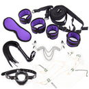 BDSM Bondage Restraints Sex Toys Handcuffs and Ankle Cuffs Eye Mask Whip Erotic Accessories Kit Sex Toy for Women Men Adult Game
