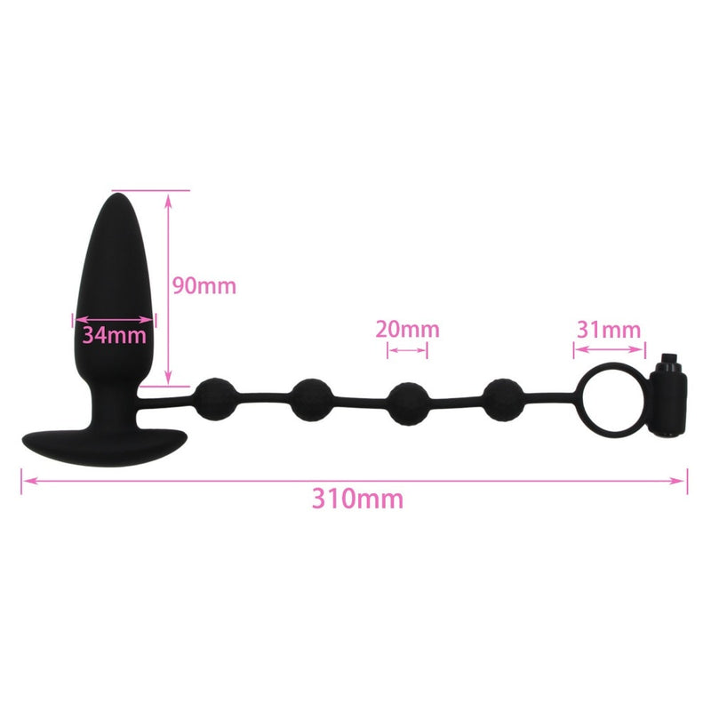 YEMA Silicone Bullet Anal Butt Plug Ring Vibrator Dual Use Penis Men Gay Sex Toys Prostate Massager long lasting Machine