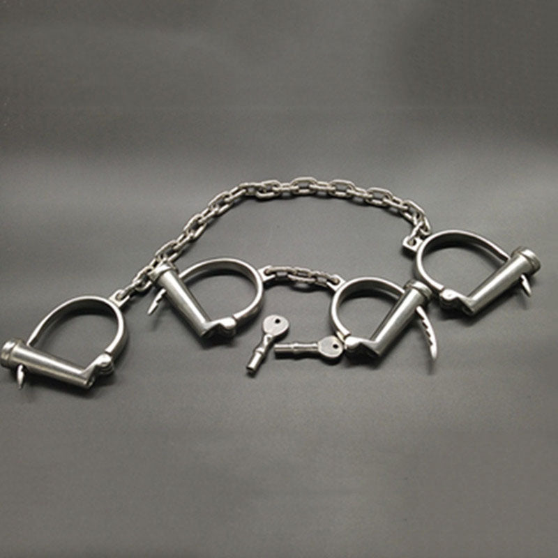 Steel Adjustable Handcuffs For Sex Metal Ankle Cuffs Adult Games Bdsm Tools Bondage Cuffs Restraints Handcuffs Bdsm Torture Toys