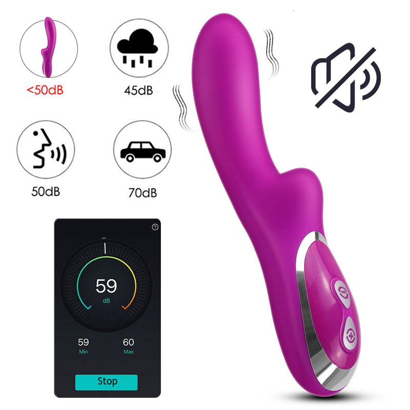 Khalesex G Spot Dildo Vibrator for Women 10 Speeds Silicone Female Masturbation Erotic Sex Toy for Women Anal Butt Plug Product