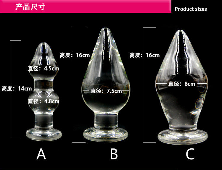 Dia 48mm to 80mm Pyrex Crystal Glass Anal Plug Big Long Glass Butt Plug Penis Adult G-spot Male Masturbator Dildo Gay Sex Toys