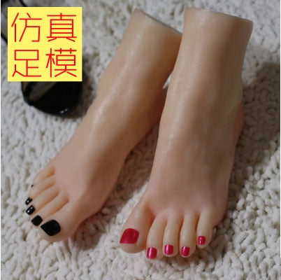 Female Realistic LifelikeExcellent Foot Mannequin Foot Fetishism Foot Worship Prop Shoe Stretcher Display Nail Art Manicure Tool