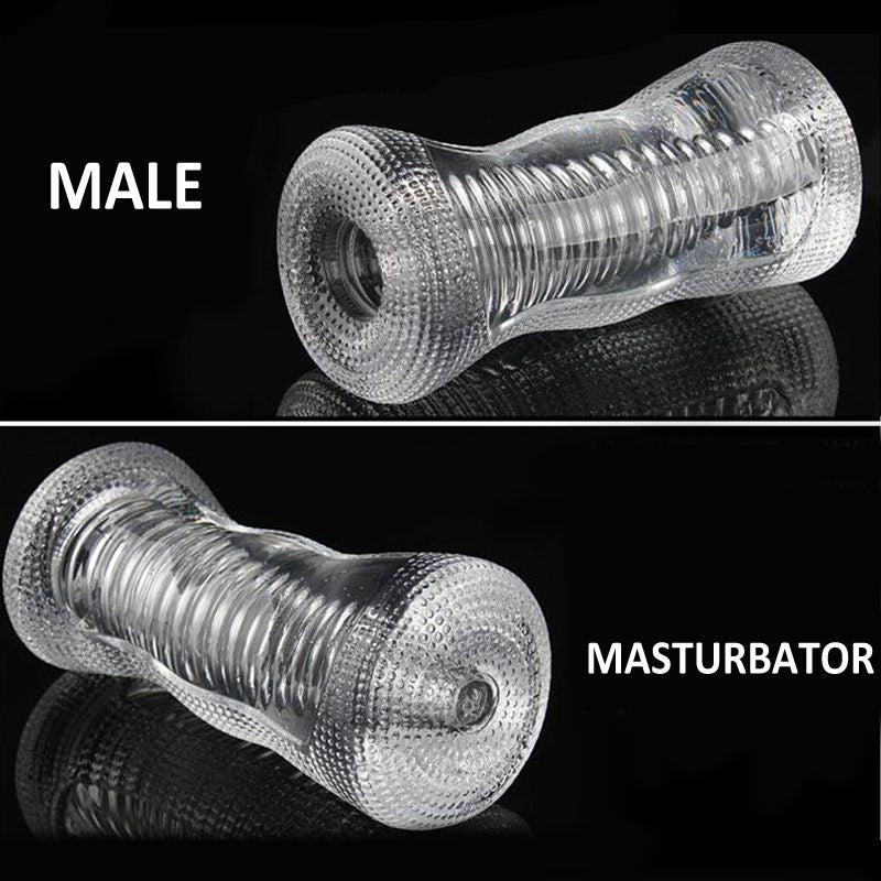 4 Types Male Masturbator Man Penis Trainer Erotic Adult Toys Silicone Soft Transparent Pussy Penis Massager Sex Toys
