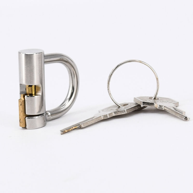 Stainless Steel Titanium D-Ring PA Lock Glans Piercing Male Chastity Device Penis Harness Restraint Leashes Fitting,PA Puncture