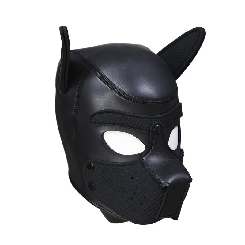 Sexy Dog BDSM Bondage Puppy Play Hoods Slave Rubber Pup Mask Fetish Adult Games Couples SM Flirting Games Toys For Erotic Hoods